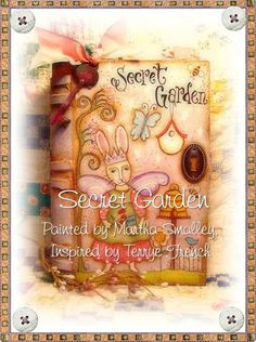 E Pattern -Secret Garden Book Box - Painting with Friends. $5,00, via Etsy.