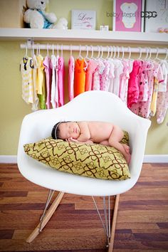 Newborn Kaylee at home in her nursery. Her mama decorated this nursery herself, follow her pins at:  http://pinterest.com/simplyvonne/