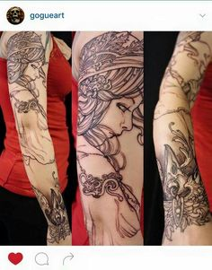 Sleeve by Jeff Gogue on Miss Theresa Sharp!!!