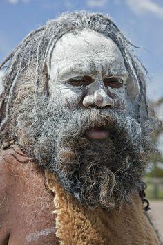 Australia New South Wales. | An Aboriginal man at Katoomba. | Photographer Nigel Pavitt, © John Warburton-Lee