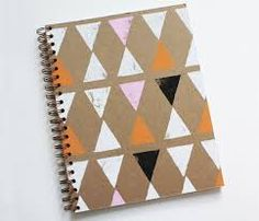 Loving this pattern - DIY Notebook cover Diy Notebook Cover, Plain Notebook, Notebook Design, Arts And Crafts, Paper Crafts, Diy Crafts, Diy Cahier, Diy Inspiration, Do It Yourself Projects
