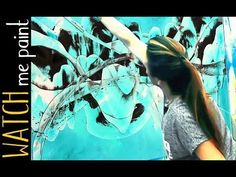 Painting abstract with acrylics demo - Abstrakt malen mit Acryl - zAcheR-fineT Shorty - YouTube