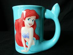 DISNEY PRINCESS THE LITTLE MERMAID ULTRA RARE ARIEL CUP MUG 3D SCULPTED | the Little Mermaid Collectionary