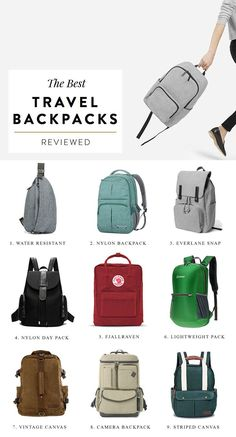 Travel backpack essentials, travel backpacks for women, europe packing list Travel Backpack Carry On, Bags Travel, Travel Bags For Women, Travel Clothes Women, Backpack Purse, Travel Luggage, Herschel Backpack Outfit, Camera Laptop Backpack, Fashion Backpack