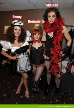 The Big Bang Theory cast dressed up as characters from Rocky Horror Picture Show. This is the single greatest picture to exist in the history of forever, and there's no denying that.