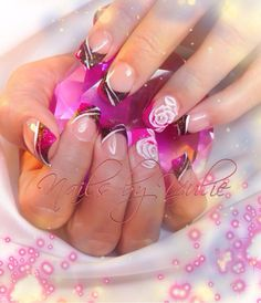 """""""Pink and Flirty""""   I am totally in love with this color combination pink and brown sparkle with a new 3-D open Rose #ringfinger #mynails #cutelittleflowers  #shinynails #sparklenails#colordiamonds #shortnails #naturalnails #fullset  #tips #wownails #omgnails #crazynails #crystalnails #nailjunkie #glammnails  #shortnails #custommixedcolour #cutenails #lovenails #lovethatcolor #3dnails #3dflower #cuteflowers #blingyournails #blingbling #pinknails #barbienails"""