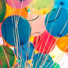 colorful balloons by o_o mars, via Flickr