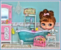Blythe doll bubble bath - photo by Debby Y Emerson