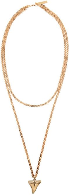 Givenchy Rose Gold Shark Tooth Necklace
