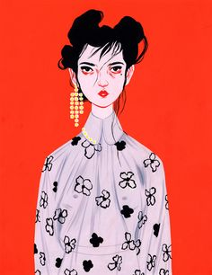 illustration portraits and fashion by bijou karman