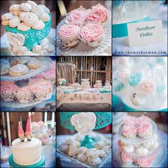 Light blue and pink (and a TON of other wedding ideas through pictures)