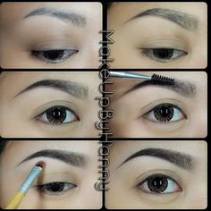 Filling In Sparse Brows And Creating An Arch By Dewi Purnama Sari Using Dipbrow In Ebony Anastasiabeverlyhills Anastasiabrows Makeup Brows