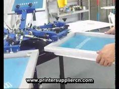 Six Color Six Station T-Shirt Screen Printing Machine