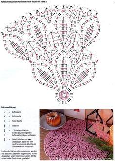Photo from album Filet Crochet, Crochet Doily Rug, Crochet Doily Diagram, Crochet Dollies, Crochet Mandala Pattern, Crochet Flower Tutorial, Crochet Blocks, Crochet Tablecloth, Crochet Chart