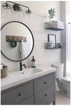 Bathroom Interior Design, Home Interior, Farmhouse Bathroom Light, Rustic Farmhouse, Farmhouse Style, Industrial Farmhouse Decor, Modern Rustic Decor, Urban Farmhouse, Farmhouse Ideas