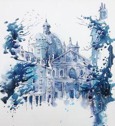 Ink&watercolour sketch