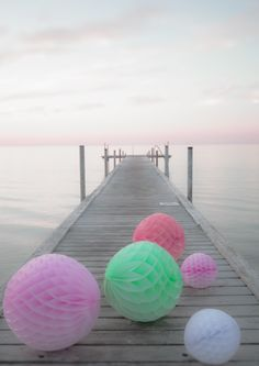 Where is this? I want to go to the place where pastel honeycomb balls roll along picturesque jetty's.