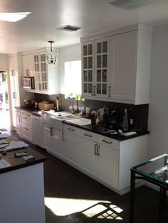White Galley Kitchen Photos | Kitchen Installation   IKEA Cabinets. Lidingo  White Galley Kitchen .