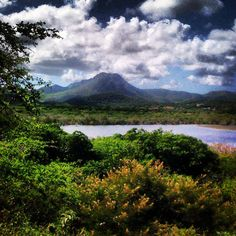 Beautiful picture of the Mountain Christoffel  in Curaçao.
