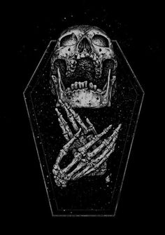 40 Magnificently Morbid Art & Designs Featuring Skulls - Real Time - Diet, Exercise, Fitness, Finance You for Healthy articles ideas Arte Horror, Horror Art, Whats Wallpaper, Totenkopf Tattoos, Satanic Art, Arte Obscura, Skeleton Art, Skull And Bones, Gothic Art