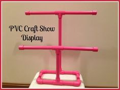 craft faire displays | made this PVC Craft Show Display for my elastic headbands. This ... by diybric.blogspot.com