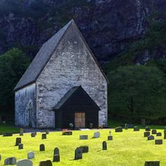 """""""The fabled Kinn church - has been in use since it was built in the twelfth century.  It is situated on the island Kinn west of Florø towards the Nordic…"""""""