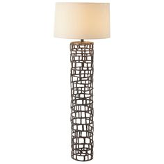 """Limited Production Design: 64"""" Tall Contemporary Geometti Iron Cage Floor Lamp * Only Few Remaining"""