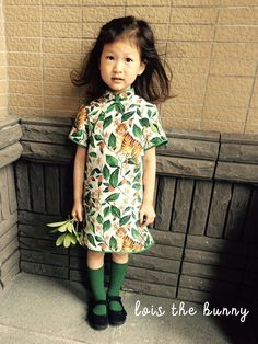 Handmade Tiger Silk Green Lace Girl Princess Cheongsam Dress Asian Silk Qipao  | eBay