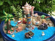 How to Make a Zen Garden Mermaid Fairy Garden Beach Fairy Garden, Fairy Garden Houses, Garden Water, Indoor Fairy Gardens, Miniature Fairy Gardens, Low Maintenance Garden Design, Mermaid Fairy, Fairy Crafts, Beach Gardens