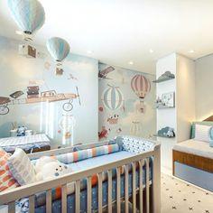 New Baby Nursery Themes Boy Hot Air Balloon Ideas Vintage Nursery Decor, Baby Boy Nursery Decor, Boys Room Decor, Baby Bedroom, Baby Boy Rooms, Bedroom Vintage, Baby Boy Nurseries, Baby Decor, Nursery Room