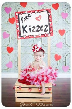 Do this with my crate BUT write 'Free Kisses' on a chalk board :)