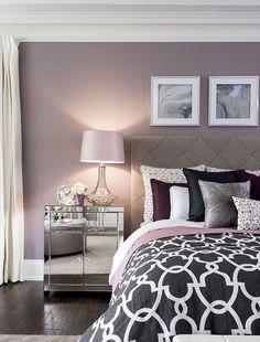 Bedroom wall designs images bedroom decor no place like home bedroom decor home purple bedrooms bedroom Bedroom Wall Colors, Home Decor Bedroom, Modern Bedroom, Design Bedroom, Bedroom Interiors, Diy Bedroom, Bedroom Ideas Purple, Trendy Bedroom, Dream Bedroom