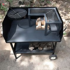 Bbq Pit Smoker, Fire Pit Grill, Fire Pit Backyard, Backyard Bbq, Backyard Kitchen, Fire Pit Cooking Grill, Dutch Oven Table, Diy Grill, Grill Design