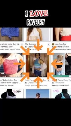 First Page, Summer Days, Videos, Your Favorite, Ravelry, Crochet Top, Crochet Patterns, Crop Tops, Boho
