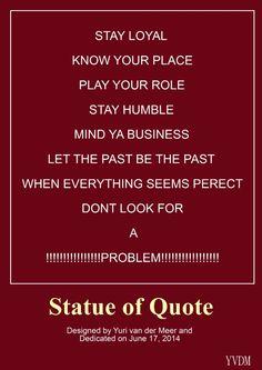 Statue Quote