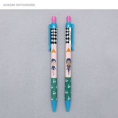 These Oohlala black ballpoint pens come in a variety of quirky styles. Ballpoint Pen, Pens, Writing, Personalized Items, Being A Writer