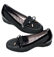 Cushion Walk® Patent Trim Loafer ~ Reg. $34.99 ~ Sale $24.99!    Faux suede with patent-leatherlike trim. Wave-molded footbed and thick treaded sole for comfort and shock absorption. Foot-massaging comfort step after step. Skid-resistant sole. Whole sizes only. Half sizes, order one size up.    Simply click the link to order yours today!   Shop Online & Save today!