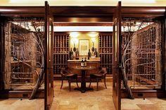 home wine cellars design | ... wine cellar design Eight Inspiring Wine Cellar Designs for Any Wine - great floor and iron work!