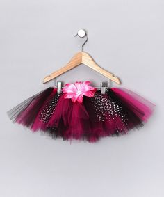 Take a look at this The Vibrant Butterfly Hot Pink & Black Tutu - Infant, Toddler & Girls on zulily today!