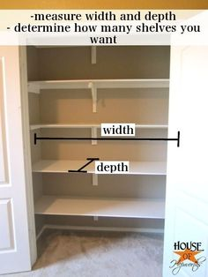 how to install shelves in a closet. I am so doing this for all our closets! WAY better use of space!