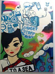 Titel: »Sweet Stuff«, Maße: 120 x 90 cm, Material: Acryl auf Leinwand, Preis: 780 Euro inkl. Mwst., (c) Foto: evelin.de, Anfrage unter: ciyc@frohmann.com