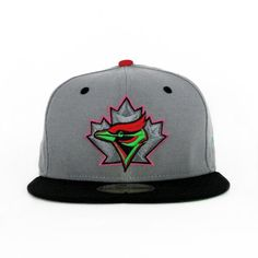 1c72d073d36 Toronto Blue Jays Graphite Red Lime (Green Under) 59fifty Toronto Blue Jays