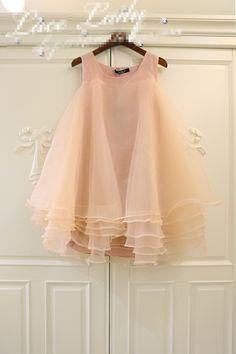 Soft Peach Flower Girl Dress