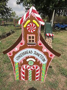 Hp Navidad Pan de Jengibre Junction Casa yard/lawn Arte
