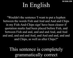 For those who say that English is an easy language