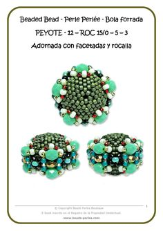 * Beads Perles: beaded bead tutorial.   Free download of this towards bottom of page.