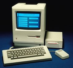 Apple Macintosh computer from mid 80's