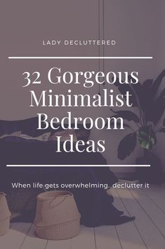 It is time to remove the mismatched clunky furniture and the piles of clean laundry to be put away and simplify your life by creating our very own minimalist bedroom. Minimalist Kids, Minimalist Quotes, Minimalist Home Decor, Minimalist Lifestyle, Cluttered Bedroom, Mismatched Furniture, Diy Kids Furniture, Brown Furniture, Bedroom Organization Diy