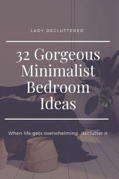 32 Minimalist Bedroom Ideas | Minimalist bedroom Minimalist Minimalist kids Minimalist Kids, Minimalist Home Decor, Minimalist Living, Minimalist Lifestyle, Diy Home Decor On A Budget, Affordable Home Decor, Cluttered Bedroom, Mismatched Furniture, Bedroom Organization Diy