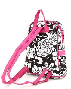 Black and White Floral Backpack with Pink by LaDiDaLadyBoutique, $29.99